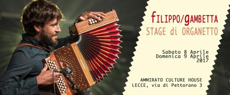 Stage di organetto condotto da Filippo Gambetta